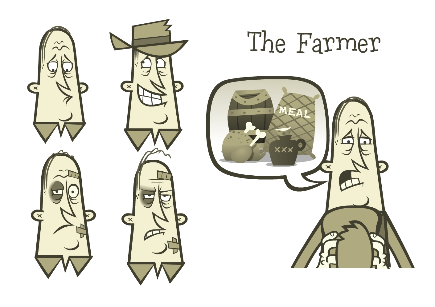 The down on his luck farmer