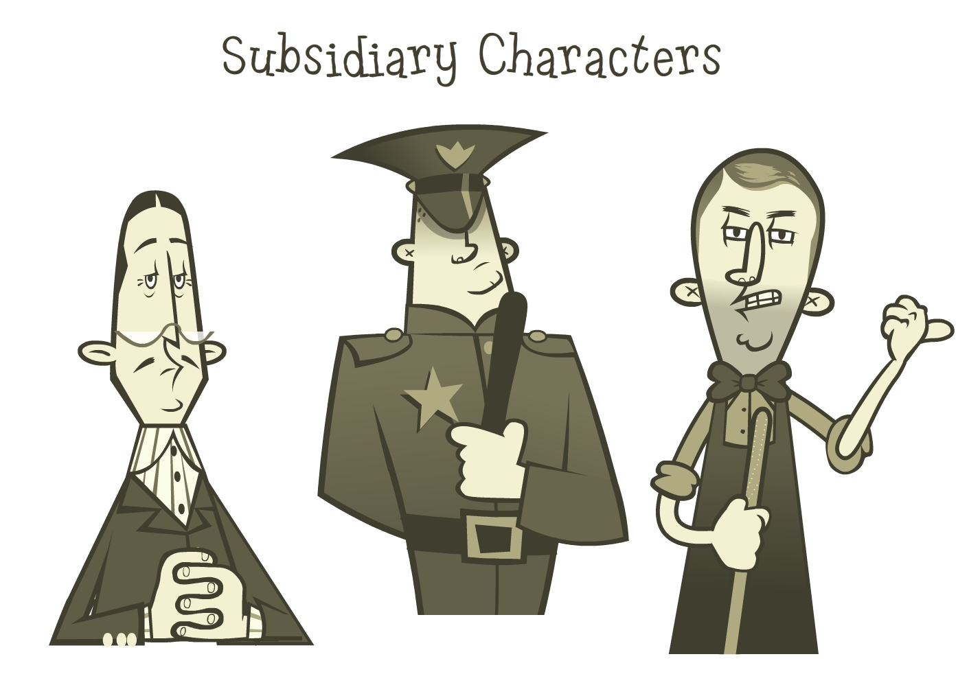 The Bank Teller, Policeman and The Dry Goods Man