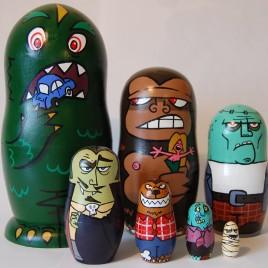 Movie Monsters Russian Doll Set (7 pieces)