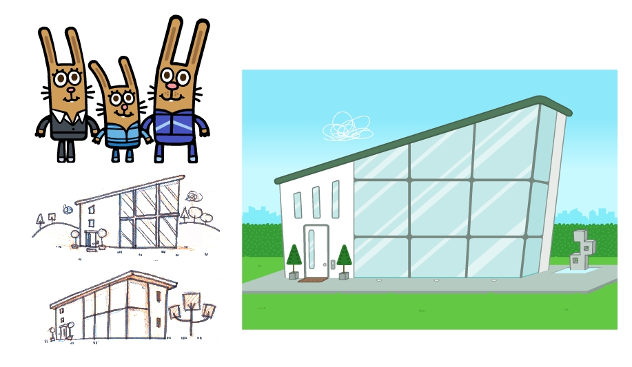 The Nibblits House - A family of high achievers. A modern, minimalist take on a rabbit hutch.