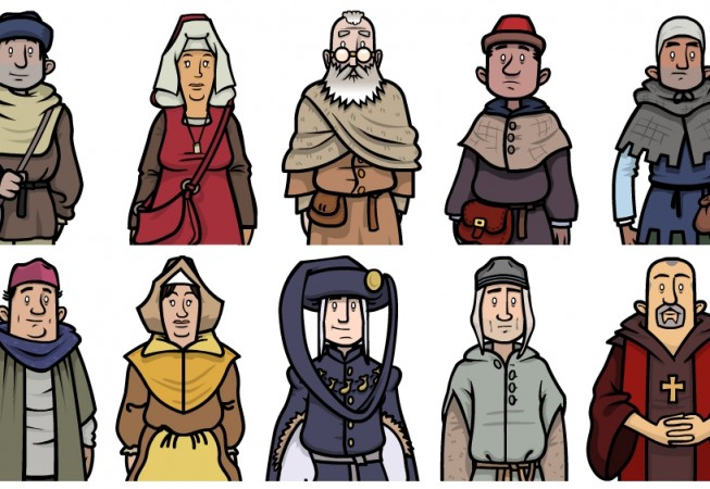 Discover Medieval Chester - Character vectors