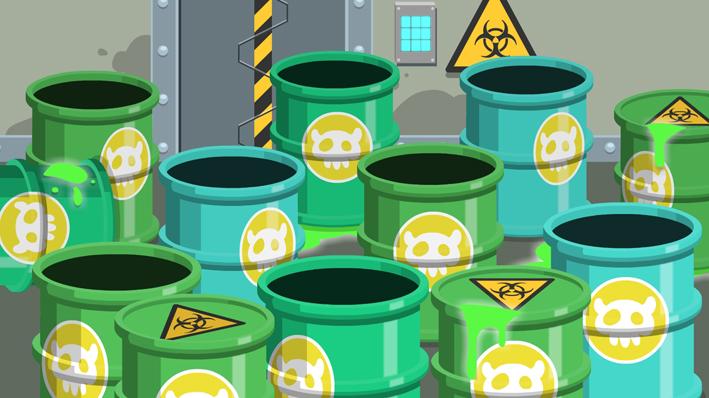 Level 4 BG - Radioactive Barrels